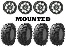 Kit 4 Kenda Bearclaw K299 Tires 26x9-12/26x11-12 on STI HD3 Gloss Black VIK