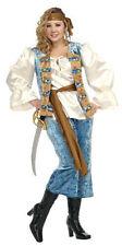 PIRATE QUEEN BUCCANEER ADULT HALLOWEEN COSTUME WOMEN'S PLUS SIZE (UP TO 16-18)
