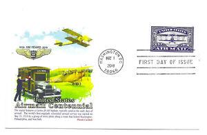 5281 US Air Mail Centennial, (blue), Panda Cachets,  FDC