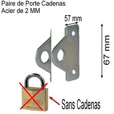 Support,Porte Cadenas en Acier de 2 mm,Trou 10 mm,Garage,Box,Outils,Vestiaire ..