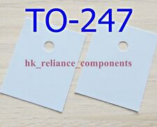 50 pcs Heat Sink Pad TO-247 20x25mm Transistor Insulator Silicone Rubber Sheet
