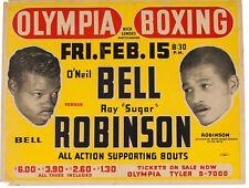 1946 Sugar Ray Robinson Fight Poster - Olympia Boxing -17x11 - Jake LaMotta
