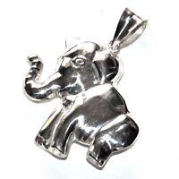 Pendentif en argent massif 925 Elephant 3D original bijou pendant A1