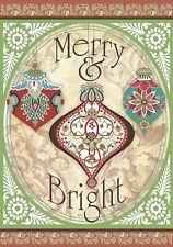 Merry & Bright - Mini Garden Flag - Brand New 12x18 Christmas 0062