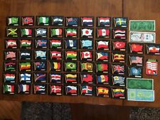 1970 Topps Flags of the World Lot of 61 Different Cards plus Currency Inserts