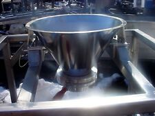 185 X 12 Inch Polished Stainless Steel Cone Tank With Valve