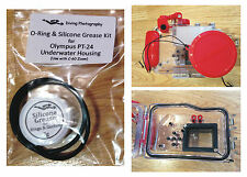 RICAMBIO O-RING & silicone grasso kit per Olympus pt-24 Immersione Housing Case