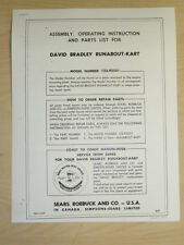 1959 Sears David Bradley Runabout Kart Manual / Go Cart Model: 123.92251