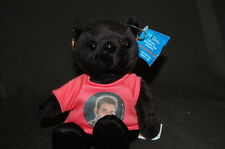 "ZEEKS NSYNC BLACK BEAR CHRIS KIRKPATRICK Plush 9"" 2000 Stuffed Animal Lovey Toy"