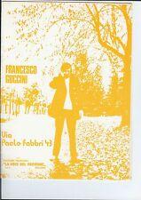spartito partituras sheet music FRANCESCO GUCCINI  Via Paolo Fabbri 43   1977