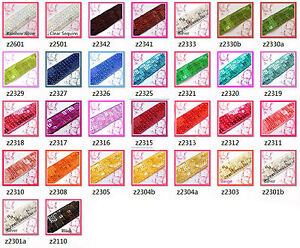 "(z) 7/8"" (22mm) wide Shiny Flat Square Sequin Lace Edge Belt Trim Ribbon Yardage"