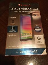 Zagg InvisibleShield Glass + Visionguard For Google Pixel 3 Clear