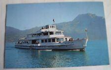 Vintage postcard 1970 Thunersee Switzerland - Beatus motor boat / cruiser / ship