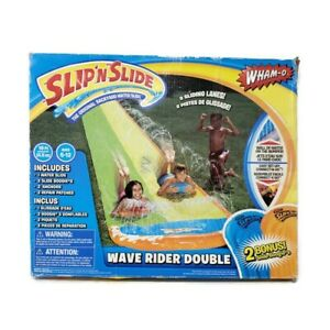 Slip N Slide Wave Rider Double Inflatable Slide By Wham-O 16 feet. With 2 Bogies