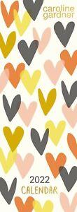 Portico Designs - Caroline Gardner Hearts 2022 Slim Wall Calendar (C22024)