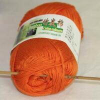 Sale Lot 1 skein x50g Soft Bamboo Cotton Baby Wrap Hand Knitting Crochet Yarn 06