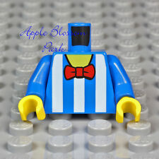 NEW Lego Juggler MINIFIG BLUE TORSO w/White Stripe Boy Shirt Red Bow Tie - 10244