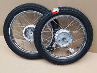Simson 2x Komplettrad 2,75x16 S50 S51 S70 Schwalbe KR51 Felge Rad Räder Reifen