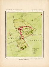 ANTIQUE MAP-NETHERLANDS-GEFFEN-NOORD BRABANT-KUYPER-1865