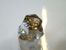 Citrine Cocktail Natural Sterling Silver Fine Rings