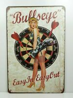 PA31F PLAQUES TOLEE vintage 20 X 30 cm : Pin'up Bullseye