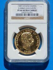 1989 Hawaii Ounce X-MB43 Gold #378 PF 66 Ultra Cameo NGC