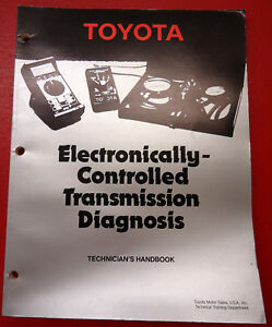 Toyota Training Handbook Electronically Controlled Transmission Diagnosis 272