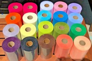 "Brand New Big Tulle Roll 6""x100Yards 21 colors"