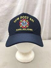 Trucker Hat Baseball Cap Official MILITARY HEADWEAR VFW POST 941 HARLAN IOWA USA