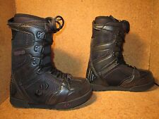 New 32 Thirty Two Womens Prion Snowboard Boots Size 7 Black Purple