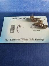 Gems TV 9ct White Gold I Diamond Earrings