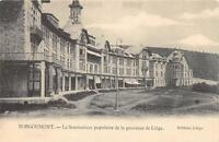CPA BELGIQUE BORGOUMONT LE SANATORIUM POPULAIRE DE LA PROVINCE DE LIEGE (dos non