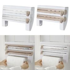 Kitchen Wall-Mounted Paper Towel Holder Cling Film Foil Roll Dispenser