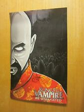 """Kung Fu Vampire Autographed Signed """"Re-Animated"""" 11""""X17"""" Poster Horrorcore"""