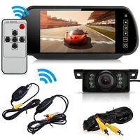 "WIRELESS CAR BUS TRUCK REAR VIEW KIT 7"" LCD MONITOR + IR LED REVERSING CAMERA UK"