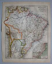 Original Grafiken & Drucke aus Südamerika mit Landkarten-Motiv von 1800-1899