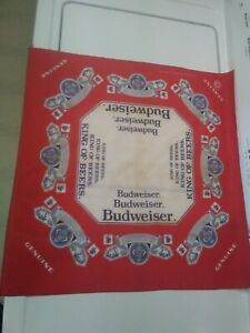 True Vintage BUDWEISER king of beer  Bandana face mask red white blue