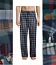 Stafford Mens Pajama Sleep Pants Flannel Cotton Soft Plaid size S M L XL XXL NEW