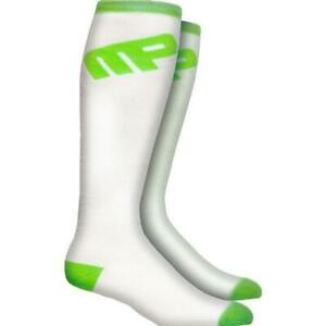 Musclepharm Knee Socks 3pk, White, Black and Pink, socks, sports, footwear