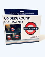 TFL London Underground Mesa De Luz Con 3 Insertos Intercambiables Mini Usb Nuevo