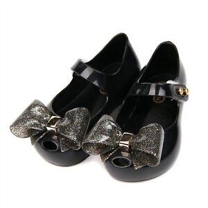 Mini Melissa Little Bow Jelly Sandals Girls Bowtie Toddle Princess Shoes US 6-11