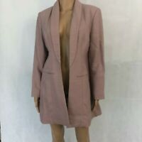 Soft Surroundings Womens Mauve Pink Open Front Jacket Size PM Petites Medium