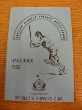 1992 Cricket: English Schools Association - Handbook. Thanks for taking the time