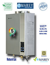 Marey Natural Gas 5.4 GPM GA16NGETL Tankless Water Heater Whole House
