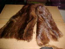 LOT OF 4 COLLARS AND PUFF BALL SASH, Fur Parts for Crafting RE-COLLAR FUR SUBTLE