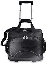 "GP 17"" Techno Black Rolling Laptop Computer Bag Wheeled Briefcase w/Organizer"