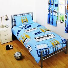 Neuf Manchester City Simple Housse Couette Set Garçons Enfant Foot Chambre Gift