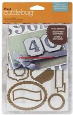 """CRICUT CUTTLEBUG 5""""x7"""" Cut and Emboss LABELS AND SUCH"""