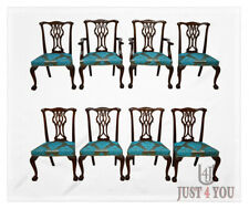 Baker Set of 8 Ball And Claw Mahogany Chippendale Dining Chairs