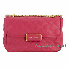 MARC JACOBS LEATHER PINK QUILTED CROSSBODY SHOULDER BAG 100% AUTHENTIC
